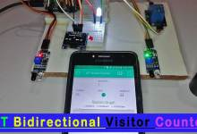 IoT Based Bidirectional Visitor Counter using ESP8266 & Blynk