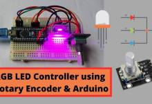 RGB LED Color Control using Arduino and Rotary Encoder