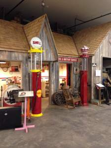 A replica of an old Shell station that the Joad family would have fonf familiar. At the Antique Car Museum of Iowa.