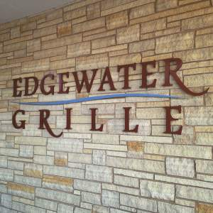 The Edgewater Grill is at the base of the Coralville Marriott. Open lunch through dinner offering Starbucks coffee and a full bar.