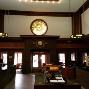From the inside of Merchants National Bank in Grinnell, IA. Original everything! What you see is what their customers saw everyday in the mid 1920's. https://www.facebook.com/GrinnellChamber