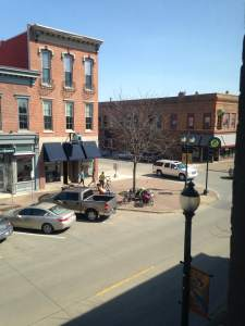 Our view from room #219 at the Black Hawk Hotel. We can see the brewery from here!