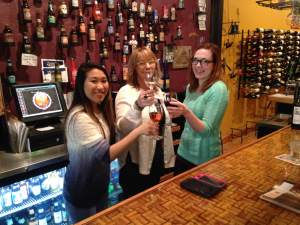 Owner of Luna Art & Wine is Julie Shimek and she's surrounded by Hannah's! Hannah  (left side) is a district manager for a frozen yogurt concept called Sassy Strawberry. Located in the Iowa towns of Burlington, Ft Dodge and Waterloo and one in Austin, MN. This going to be a shocker.......She works at Luna....FOR THE FUN OF IT!
