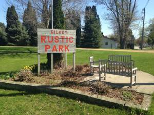 Gilroy Rustic Park. One of Lost Nation's best places to kick back, play, picnic and just plain enjoy the day.