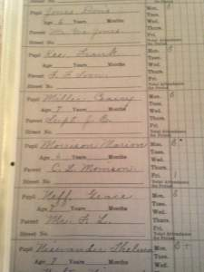 Before he was known as John Wayne, he was Marion Morrison. And his first grade report card can be seen at the Mannatt house in Brooklyn, IA.