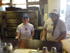 Miya and Lily will be rolling out the fresh pizza dough at Tomaso's-Hiawatha in fine RAGBRAI form. https://www.facebook.com/pages/Tomasos-Pizza/254363598068?fref=ts