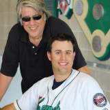 """Bob Teig and the inspiration for one of the most anticipated promotional nights in CR-Kernels history, his son Jon. I have a feeling that the word """"inspiration"""" may come up again. (photo from CR-Kernels Facebook page)"""
