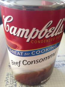 1 can Campbell's Beef Consomme