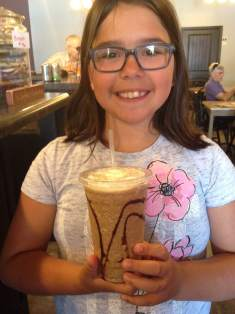 You can eat your candy bar and drink it too! Snickers Frappe at The Coffee Corner!