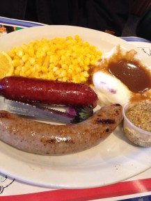 Local smoked knockwurst and bratwurst