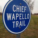 Near Chief Wapello's grave in Agency.