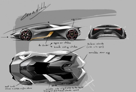 The Lamborghini Diamante Concept design by diamonds. (Thomas Granjard from Coventry University)