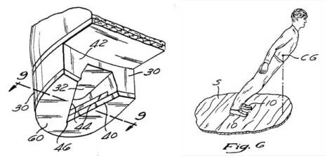 A patent drawing from Michael Jackson's application filed for his shoes and the method of his movement.