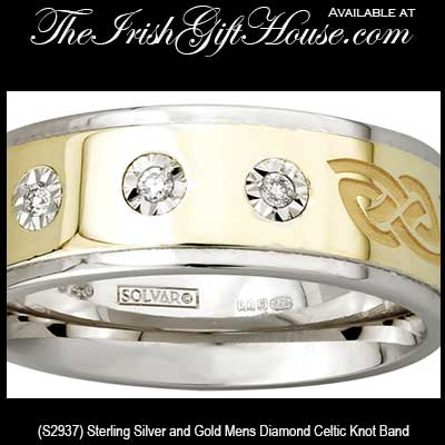 Silver And Gold Celtic Wedding Bands