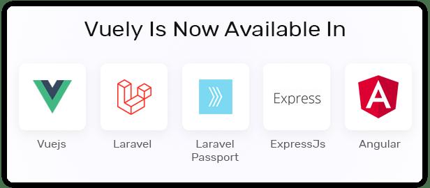 Vuely - Vuejs, Laravel. Angular, Expressjs Material Design Admin Template - 2