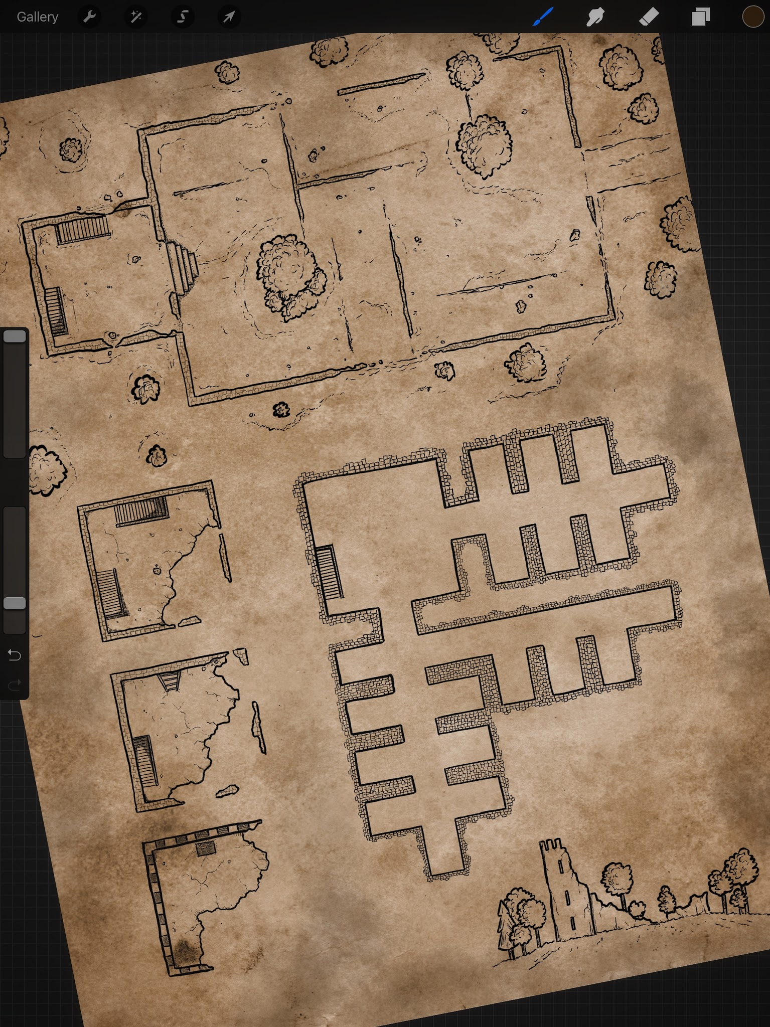 Ruin Map by Pär Lindström