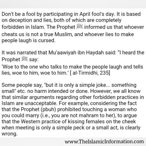 april fools day hadith