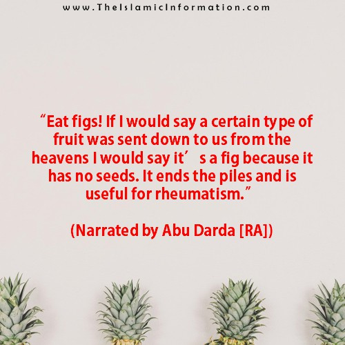 Sunnah about figs