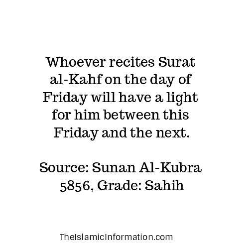surah al kahf friday recite benefits