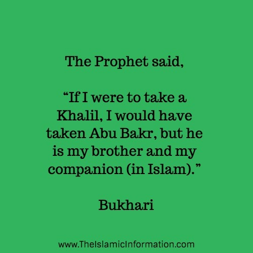 muhammad about abu bakr ra hadith bukhari