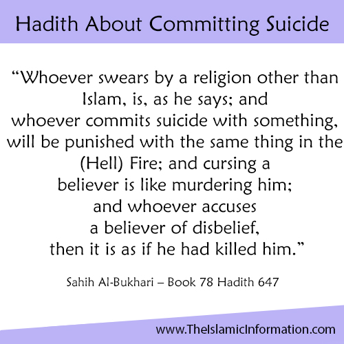 Hadith About Committing Suicide 1