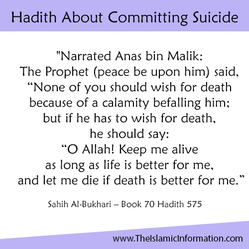 Hadith About Committing Suicide