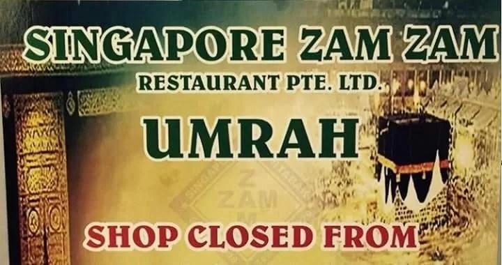 Singapore Restaurant Owner umrah free