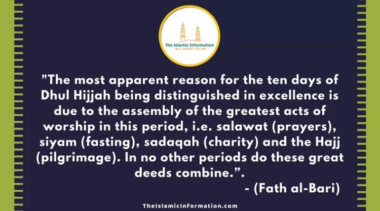 dhul hijjah quran Fath al-Bari