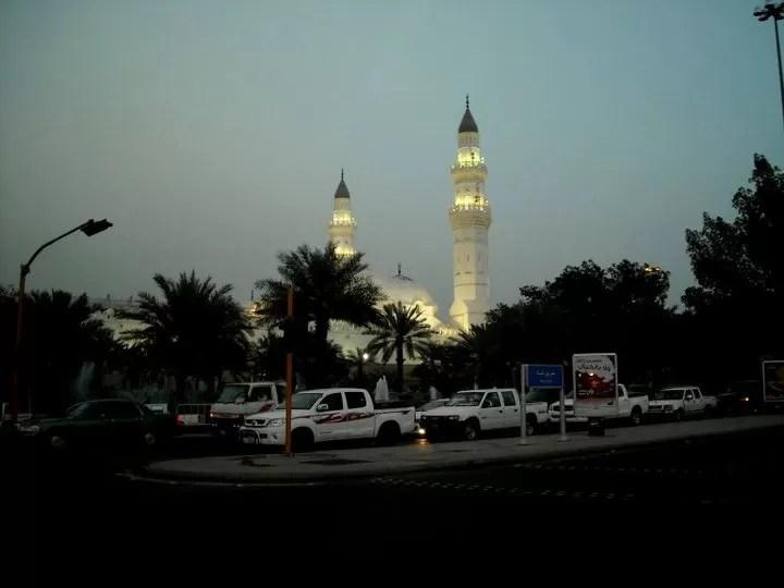 Quba Mosque at night