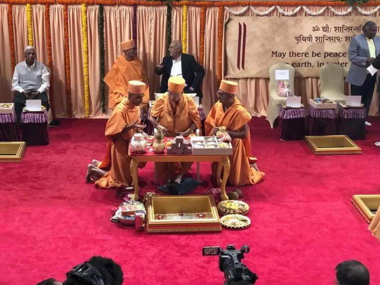 hindu temple opening ceremony UAE