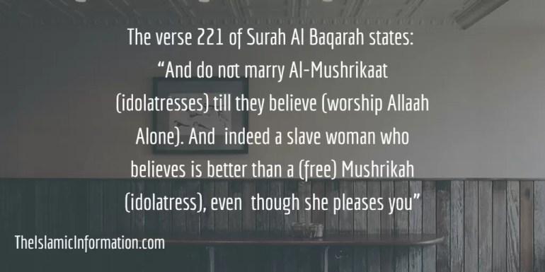 Muslim man marry a Mushrik Hindu, Buddhist Woman