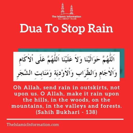 dua to stop rain - dua for stopping rain