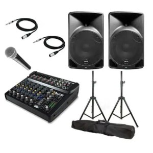 PA Sound System Bundle, speaker, music, microphone, sound, hire, waiheke