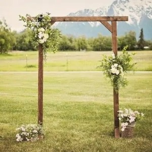Wooden arch, wedding, arch, ceremony, waiheke, hire