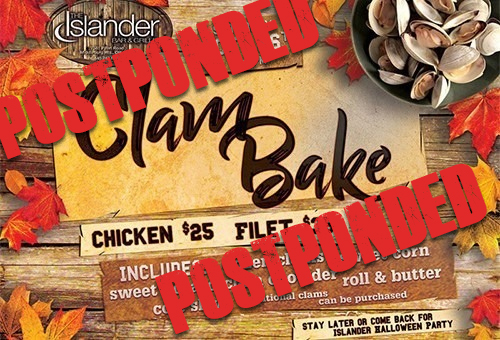 Join Us For Our Annual Clam Bake **POSTPONED**