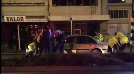 Police officer and dog hit by fleeing car