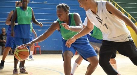 Women basketball squad training on track