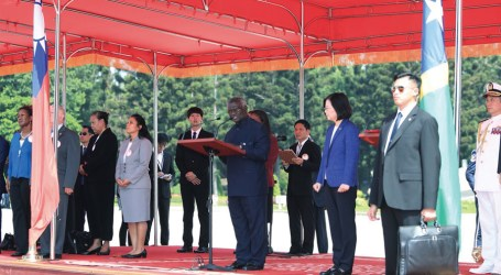 Taiwan rolls out the red carpet for PM Sogavare