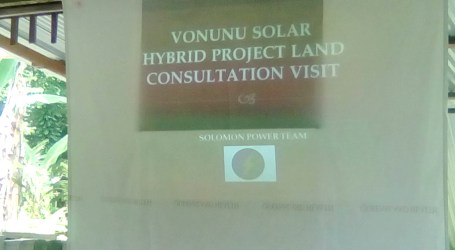 Vonunu solar hybrid project land consultation ends