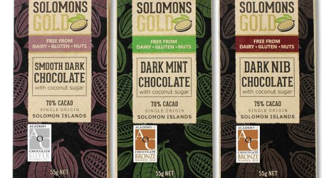 Solomons Gold chocolate wins 2 medals at the prestigious academy of chocolate awards in London