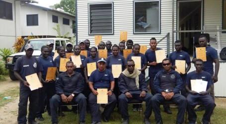 Capacity of Choiseul police on public disorder control boosted