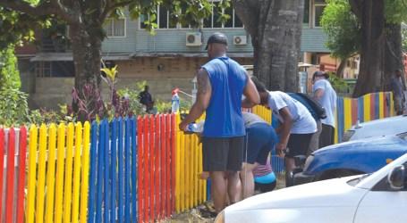 US Coastguards re-paint Children's Park