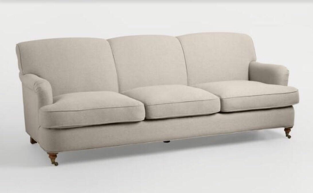 Oatmeal English Roll Arm Shelton Sofa