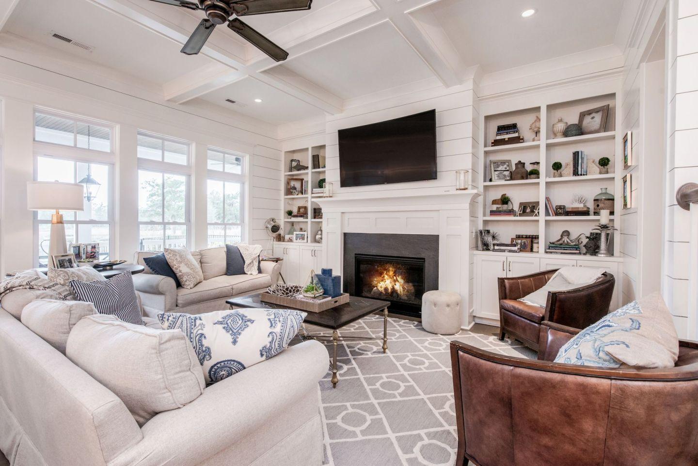 white living room details