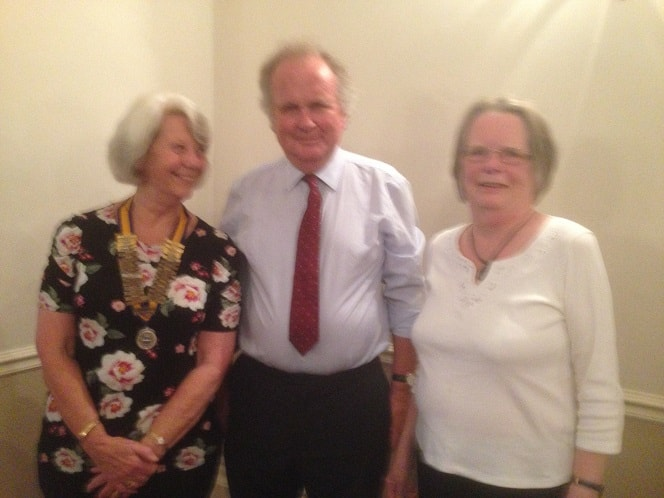 President Barbara Copper with Iain and Lyn Callender from Operation Sunshine