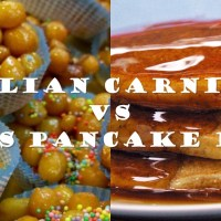 Italian Carnevale VS English Pancake Day