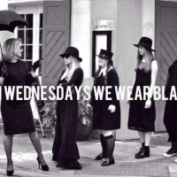 On Wednesdays we wear BLACK.