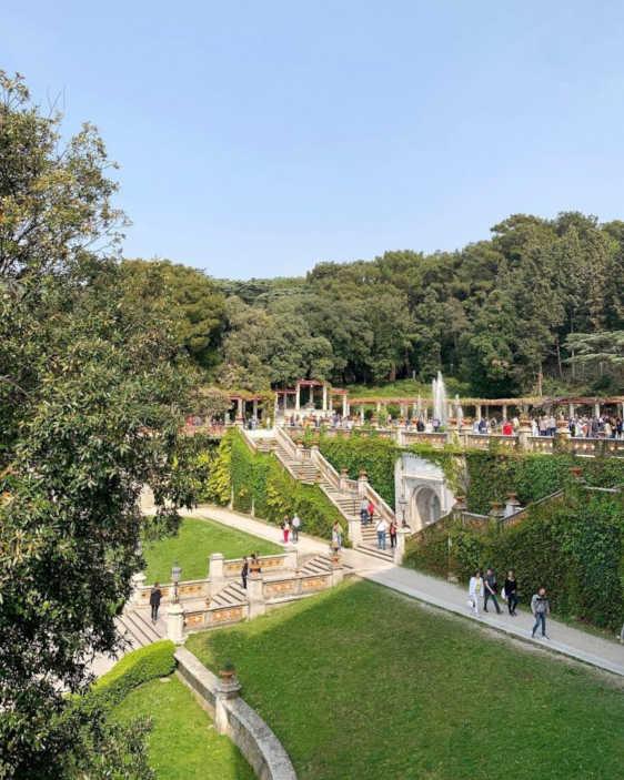 Stairway to Miramare garden from the private beach