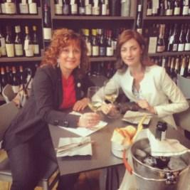 With Angela Sini, Cantina della Volta