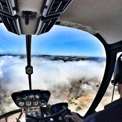 Flying over the marine layer